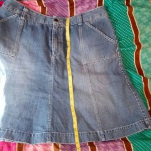 Eddie Bauer Est 1920 Denim Skirt Size 14